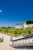 Villandry Castle with garden, Indre-et-Loire, Centre, France — Stock Photo