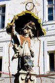Evi ayrıntılı bir heykel, banska stiavnica, slovakya — Stok fotoğraf