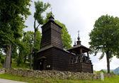 Ahşap kilise, leluchow, polonya — Stok fotoğraf