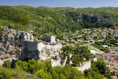 Castle and town of Boulbon, Provence, France — Stock Photo