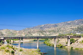 Railway viaduct in Pocinho, Douro Valley, Portugal — Stock Photo
