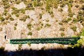 Railway viaduct near Tua, Douro Valley, Portugal — Stock Photo