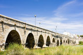Roman bridge, Merida, Badajoz Province, Extremadura, Spain — Stock Photo