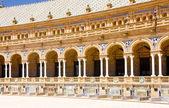 スペイン広場 (プラザ デ エスパーニャ)、セビリア、アンダルシア、スペイン — ストック写真