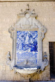 Tile painting with fountain, Cordoba, Andalusia, Spain — Stock Photo
