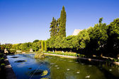 The gardens of the Alcazar of Catholic Kings, Cordoba, Andalusia — Stock Photo