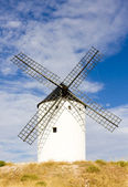 Větrný mlýn, alcazar de san juan, kastilie la mancha, španělsko — Stock fotografie