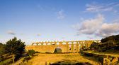 Gothic aqueduct, Morella, Comunidad Valenciana, Spain — Stock Photo