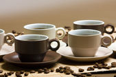 Coffee cups still life — Stock Photo