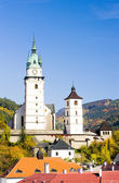 Castle and church of St. Catherine, Kremnice, Slovakia — Stock Photo