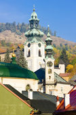 Town hall and Old Castle, Banska Stiavnica, Slovakia — Stock Photo