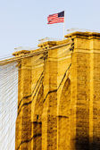 Detail of Brooklyn Bridge, Manhattan, New York City, USA — Stock Photo