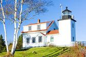 Lighthouse Fort Point Light, Stockton Springs, Maine, USA — Stock Photo