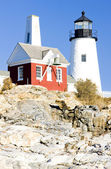 Lighthouse Pemaquid Point Light, Maine, USA — Stock Photo