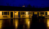 Motel at night, North Conway, New Hampshire, USA — Stock Photo