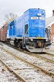 Motor locomotive, South Paris, Maine, USA — Stock Photo