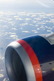 Air transport - plane's motor — Stock Photo