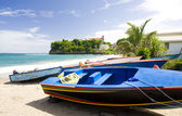 Fishing boats, Sauteurs Bay, Grenada — Stock Photo