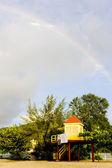 Cabin on the beach, Grand Anse Bay, Grenada — Stock Photo