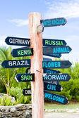 Point de repère, point nord, barbade — Photo