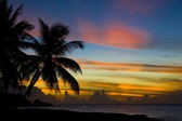 Sunset over Caribbean Sea, Turtle Beach, Tobago — Stock Photo