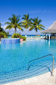 Hotel's swimming pool, Tobago — Stock Photo