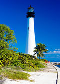 Cape Florida Lighthouse, Key Biscayne, Miami, Florida, USA — Stock Photo