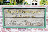 Hemingway haus in key west, florida, usa — Stockfoto