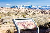 La Sal Mountains, Arches NP, Utah, USA — Stock Photo