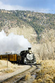 Durango and Silverton Narrow Gauge Railroad, Colorado, USA — Stock Photo