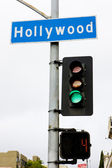 Semaphore, Hollywood, Los Angeles, California, USA — Stock Photo