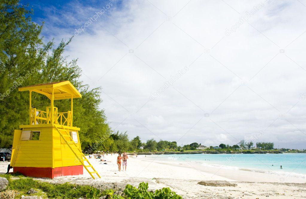 Фотообои Cabin on the beach, Enterprise Beach, Barbados, Caribbean