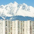 Poprad with Vysoke Tatry (High Tatras) at background, Slovakia — Stock Photo #11290042