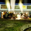 Stock Photo: Steam locomotives in depot at night, Kostolac, Serbia