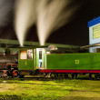 Stock Photo: Steam locomotive in depot at night, Kostolac, Serbia