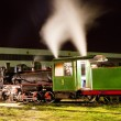 Steam locomotive in depot at night, Kostolac, Serbia — Stock Photo