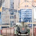 vapor trem de carga, kolubara, Sérvia — Foto Stock