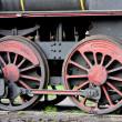 Detail of steam locomotive (126.014), Resavica, Serbia — Stock Photo