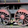 Detail of steam locomotive (126.014), Resavica, Serbia - Stock Photo