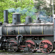 Detail of steam locomotive (126.014), Resavica, Serbia — Stockfoto