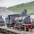 Steam locomotives, Resavica, Serbia — Stock Photo