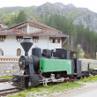 Steam locomotive in front of Dobrun Monastery, Bosnia and Herceg — Stock Photo