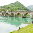 Bridge over Drina River, Visegrad, Bosnia and Hercegovina — Stock Photo #11290409
