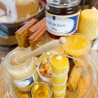 Still life - honey (sample of wine aroma) — Stock Photo