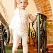 Standing little girl — Stockfoto