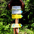 Guideposts, Hardegg, Lower Austria, Austria — Stock Photo