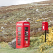 Telephone booth and letter box near Laid, Scotland — Stock Photo #11290932