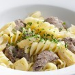Pasta with beef meat — Stock Photo