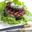 Grilled beefsteak with herbal butter — Stockfoto #11291329