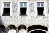 Detail of renaissance house, Slavonice, Czech Republic — Stock Photo